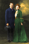 Historical Digital Art - The Sundance Kid Harry Longabaugh and Etta Place 20130515 by Wingsdomain Art and Photography