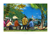 Protestantism Framed Prints - The sunday in French Polynesia Framed Print by Laurent Sauvat-Salmon