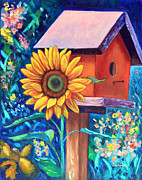 Sunflower Paintings - The Sunflower Suite by Eve  Wheeler