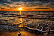North Sea Digital Art Prints - The Sunset Print by Adrian Evans