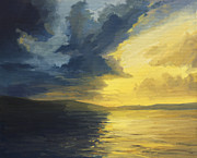 Beautiful Scenery Paintings - The Sunset of Light and Shadows by Kiril Stanchev