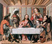 Emmaus Paintings - The Supper at Emmaus by Marco Marziale