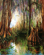 Cypress Trees Prints - The Surveyor Print by Dianne Parks