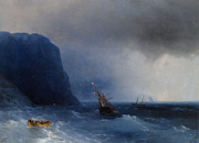 Survivors Prints - The Survivors Print by Ivan Constantinovich Aivazovsky