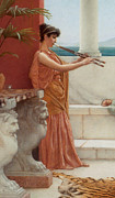 The Tiger Prints - The Sweet Siesta of a Summer Day Detail Print by John William Godward