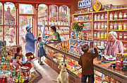 Old Town Digital Art Framed Prints - The Sweetshop Framed Print by Steve Crisp
