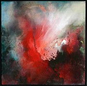 Combustion Painting Prints - The Swell Print by Lissa Bockrath