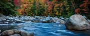 Ethereal Water Prints - The Swift River - A Panoramic Grand Scenic Print by Thomas Schoeller