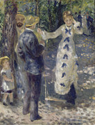Swing Paintings - The Swing by Auguste Renoir