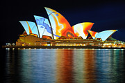 Sydney Opera House Art - The Sydney Opera House in vivid colour by David Hill