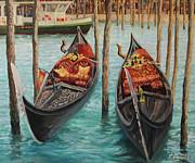 The Symbols Of Venice Print by Kiril Stanchev