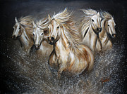 Montana Wildlife Paintings - The Symphony by TeshiaArt