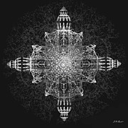 Abstract Movement Originals - The Tabernacle in Black and White by Michael Durst