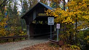Taftsville Art - The Taftsville Covered Bridge.   by New England Photography