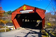 Taftsville Metal Prints - The Taftsville Covered Bridge.  Metal Print by New England Photography