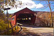 Taftsville Art - The Taftsville Covered Bridge. by Stan Amster