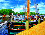Docked Sailboat Originals - The Tall Ship Friends Good Will by Garry Schmidt