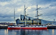 The Clyde Glasgow Prints - The Tall Ship Glenlee at the Riverside Museum Glasgow  Print by Tylie Duff