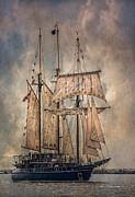 Full Sail Framed Prints - The Tall Ship Peacemaker Framed Print by Dale Kincaid