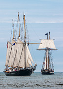 Wooden Ship Photo Framed Prints - The Tall Ships Framed Print by Dale Kincaid
