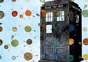 Eleventh Doctor Framed Prints - The Tardis I Framed Print by Maria Terese Angelica Smith
