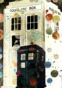 Eleventh Doctor Prints - The Tardis II Print by Maria Terese Angelica Smith