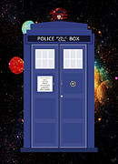Police Cars Digital Art Framed Prints - The Tardis Framed Print by Nishanth Gopinathan