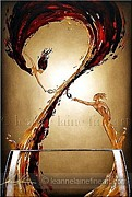 Wine Rack Paintings - The Taste of Devotion	Wine Art Painting by Leanne Laine