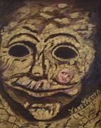 Valuable Painting Originals - The Tattoed Mask by Janis  Tafoya
