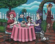 The Tea Party Print by Victoria De Almeida