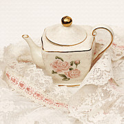 Watercolor Effect Framed Prints - The Teapot Framed Print by Art Block Collections