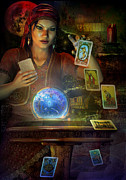 Gypsy Digital Art - The Teller by Shadowlea Is