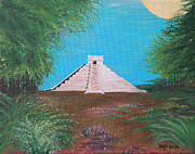 Mayan Paintings - The Temple of Kukulcan by Alys Caviness-Gober