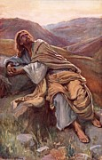 Bible Painting Prints - The Temptation of Christ Print by Harold Copping