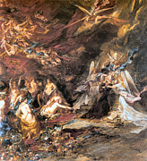 The Shepherdess Art - The Temptation of St. Anthony by Louis Gabriel Eugene Isabey