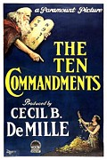 Motion Picture Poster Posters - The Ten Commandments 1923 Poster by Movie Poster Prints