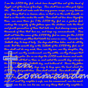 Phrases Posters - The Ten Commandments 20130213blue Poster by Wingsdomain Art and Photography