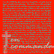 Commandment Prints - The Ten Commandments 20130213bp128 Print by Wingsdomain Art and Photography