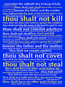 Phrases Posters - The Ten Commandments 20130625 Poster by Wingsdomain Art and Photography