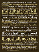 Commandment Prints - The Ten Commandments 20130625bwmwa85 Print by Wingsdomain Art and Photography