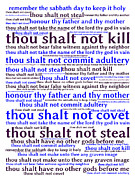 Phrases Posters - The Ten Commandments 20130625whi Poster by Wingsdomain Art and Photography