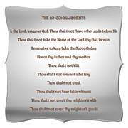 Commit Prints - The Ten Commandments Print by Rose Santuci-Sofranko