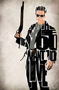 Judgment Day Prints - The Terminator - Arnold Schwarzenegger Print by Ayse Toyran