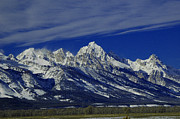 Raymond Salani Iii Framed Prints - The Tetons from Gros Ventre Framed Print by Raymond Salani III