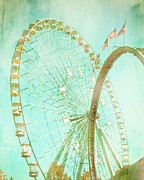 State Fair Prints - The Texas Star Ferris Wheel Print by David and Carol Kelly