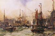The Thames At Tower Bridge Print by Charles Edward Dixon