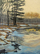 Gregory Arnett Paintings - The Thawing Pond - Hudson Valley by Gregory Arnett