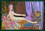 Odalisque Posters - The Thin Grande Odalisque Poster by Blake Richards