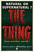 Poster From Digital Art Metal Prints - The Thing from Another World Metal Print by Nomad Art And  Design