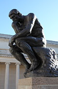 Sculpture Gallery Posters - The Thinker at San Francisco Palace of The Legion of Honor - 5D20964 Poster by Wingsdomain Art and Photography